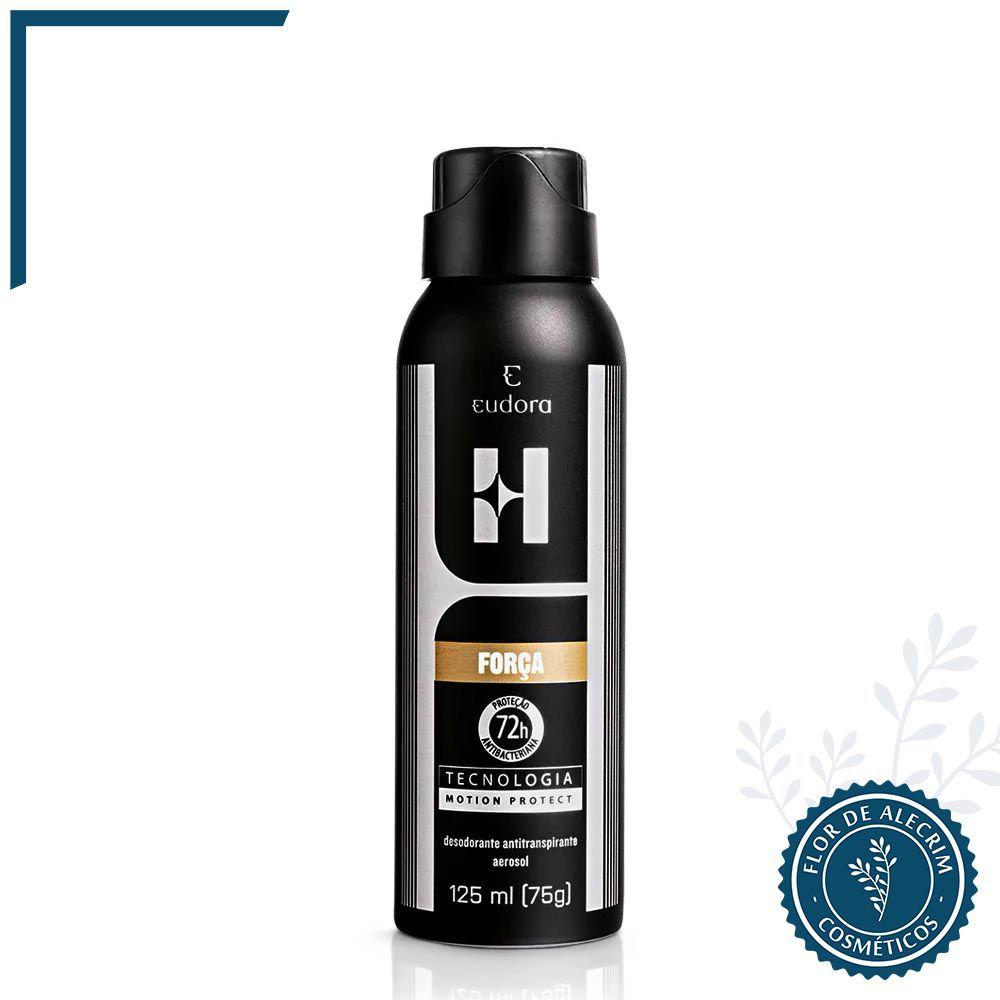 Desodorante Antitranspirante Aerossol Eudora H. Força - 125 ml | Eudora  - Flor de Alecrim - Cosméticos