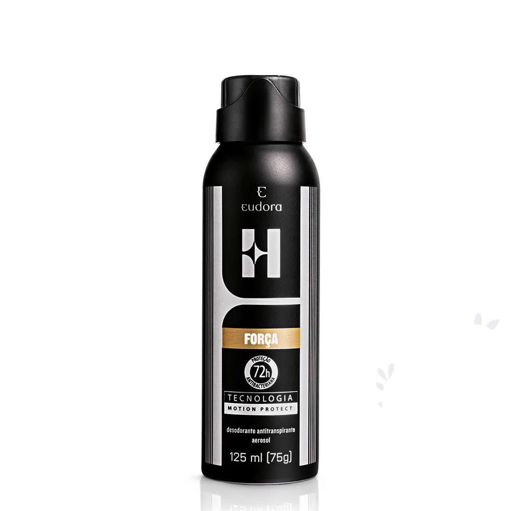 Desodorante Antitranspirante Aerosol Eudora H Força 125 Ml  - Flor de Alecrim - Cosméticos
