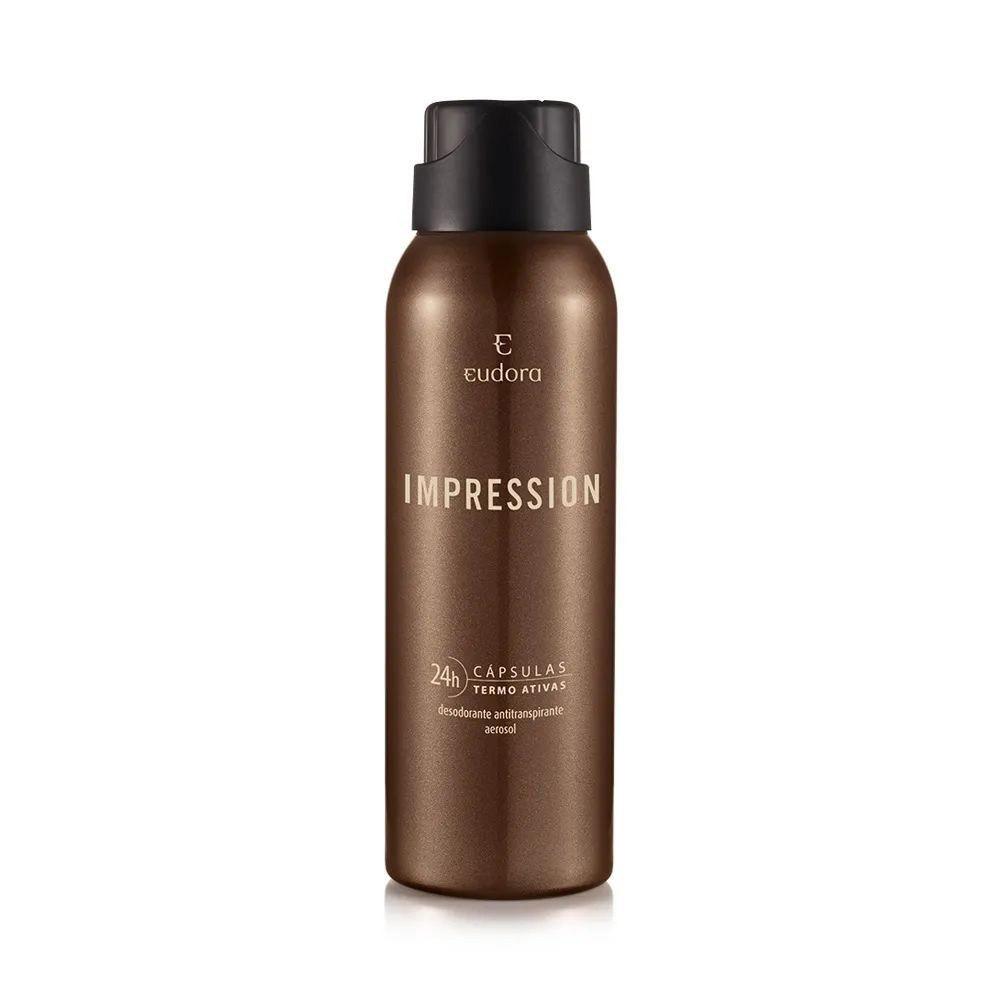 Desodorante Antitranspirante Aerosol Impression 75 g  - Flor de Alecrim - Cosméticos