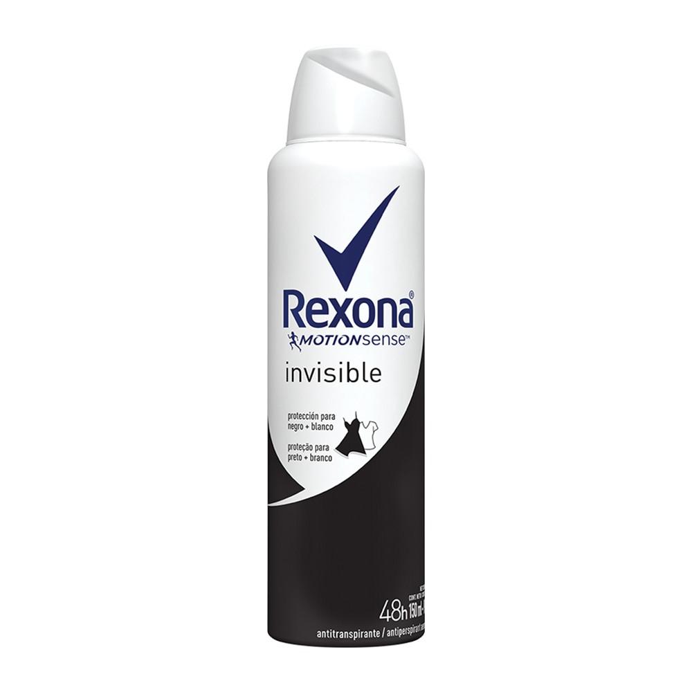 Desodorante Antitranspirante Aerosol Rexona Invisible 150 Ml  - Flor de Alecrim - Cosméticos