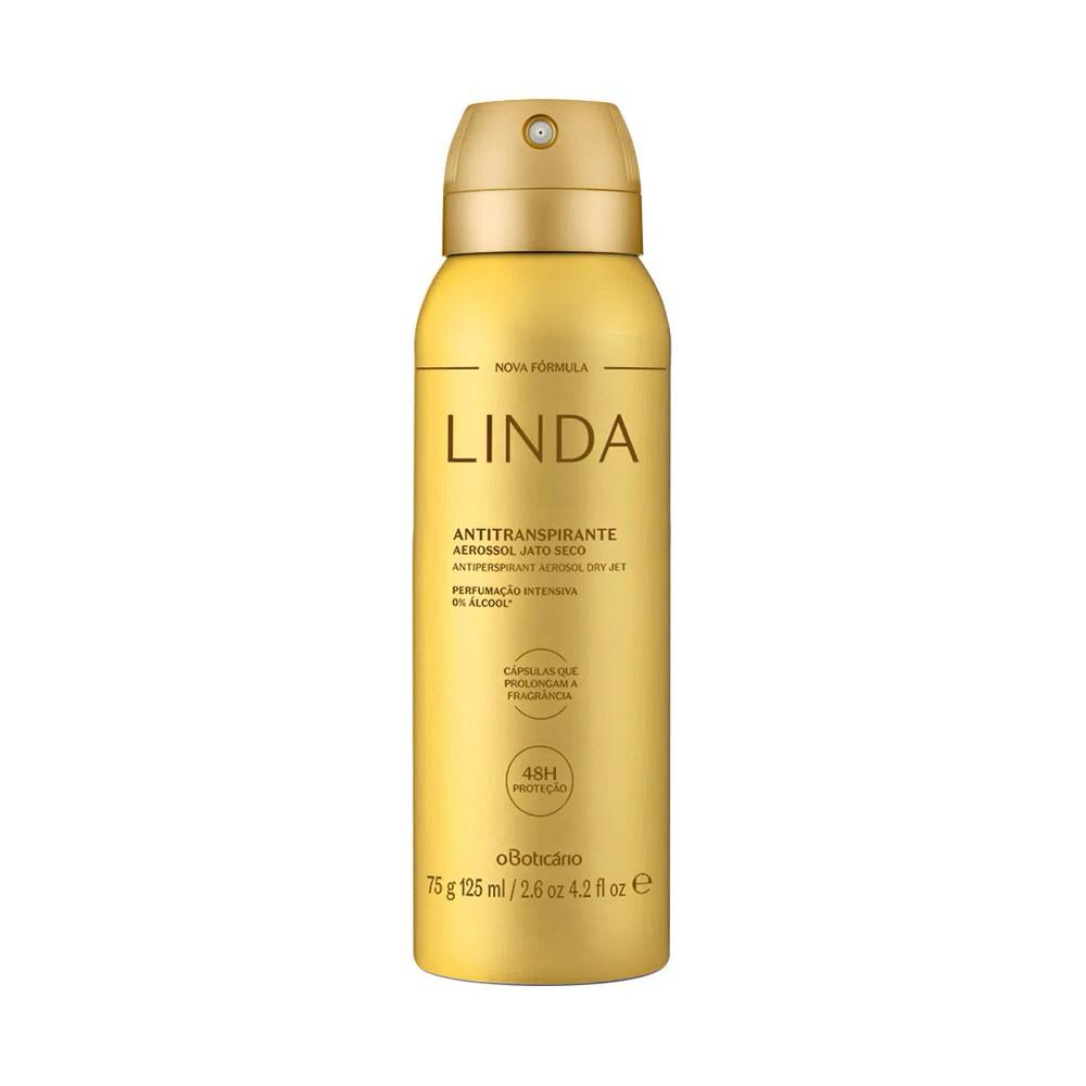 Desodorante Antitranspirante Aerosol Linda 75 g  - Flor de Alecrim - Cosméticos