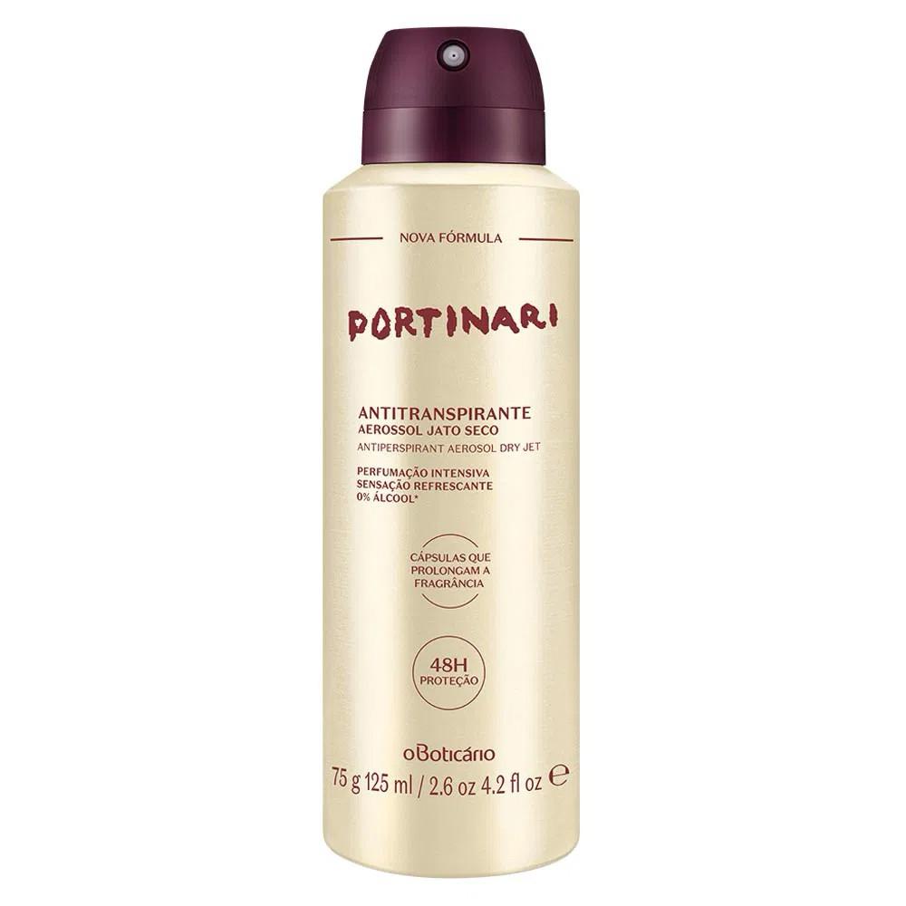 Desodorante Antitranspirante Aerosol Portinari 100 Ml  - Flor de Alecrim - Cosméticos