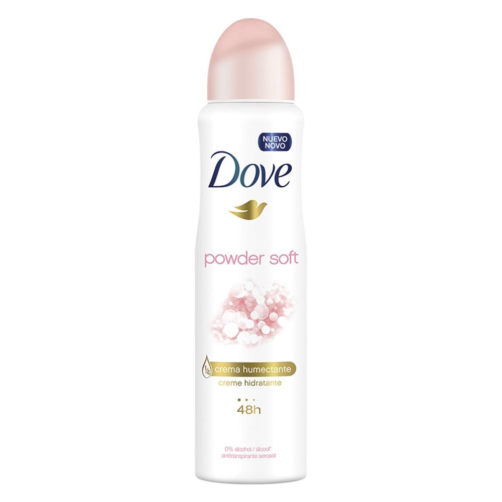 Desodorante Antitranspirante Aerossol PowDer Soft - 150 Ml | Dove  - Flor de Alecrim - Cosméticos