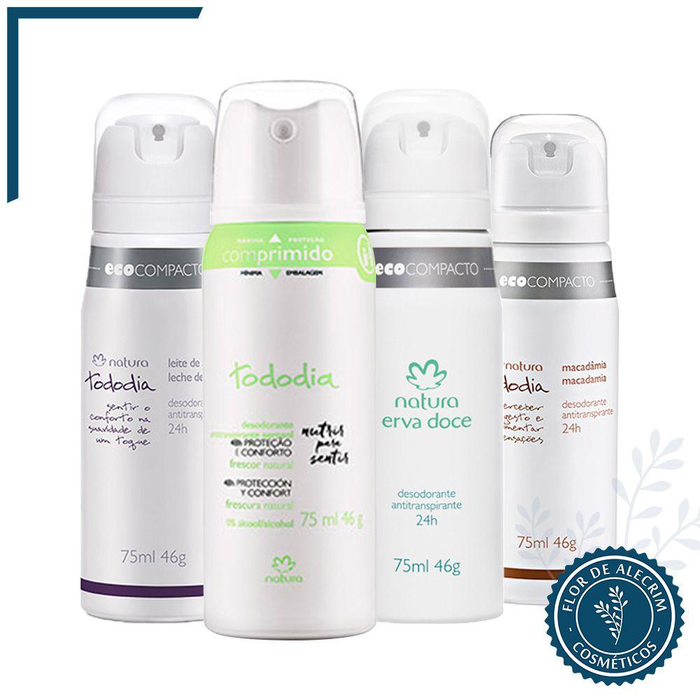 Desodorante Antitranspirante Aerossol | Tododia - 75 ml  - Flor de Alecrim - Cosméticos