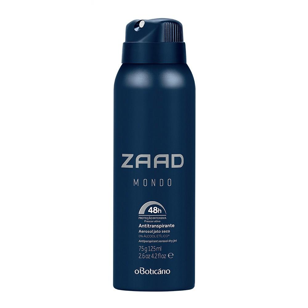 Desodorante Antitranspirante Aerosol Zaad Mondo 125 Ml  - Flor de Alecrim - Cosméticos