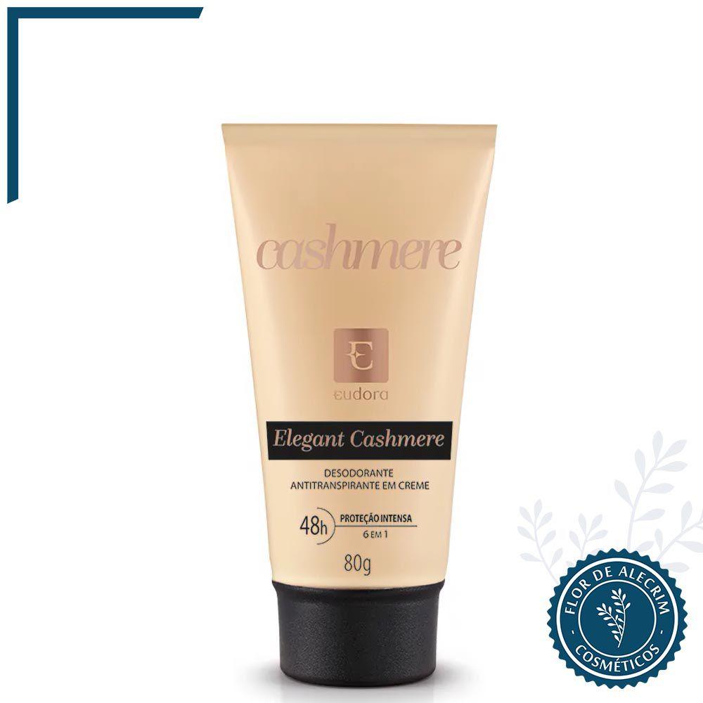 Desodorante Antitranspirante em Creme Elegant Cashmere - 80 g   Eudora  - Flor de Alecrim - Cosméticos
