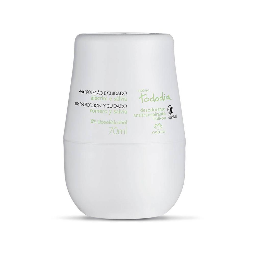 Desodorante Antitranspirante Roll-On Alecrim e Sálvia 70 Ml  - Flor de Alecrim - Cosméticos