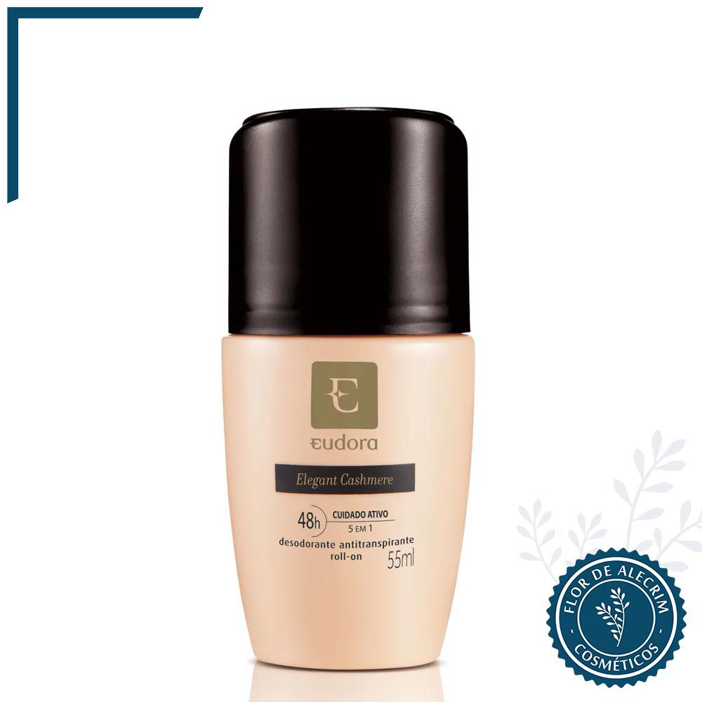 Desodorante Antitranspirante Roll-On Elegant Cashmere - 55 ml | Eudora  - Flor de Alecrim - Cosméticos