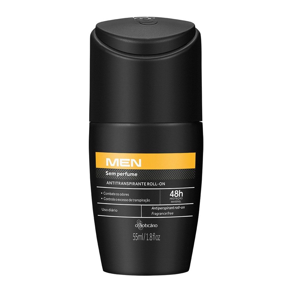 Desodorante Antitranspirante Roll-On Men - 55 Ml | O Boticário  - Flor de Alecrim - Cosméticos