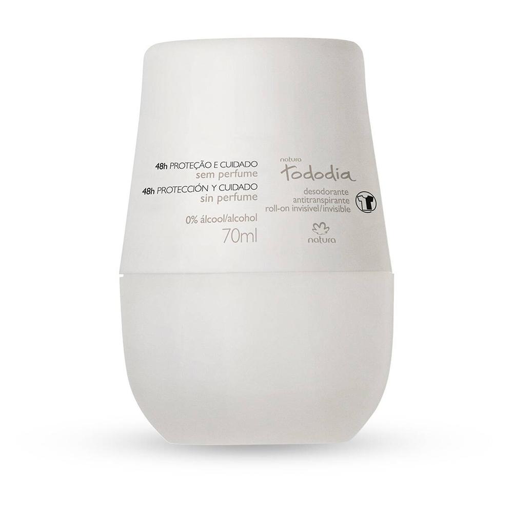 Desodorante Antitranspirante Roll-On Sem Perfume TodoDia 70 Ml  - Flor de Alecrim - Cosméticos