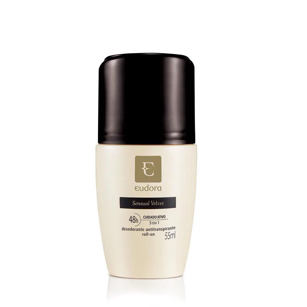 Desodorante Antitranspirante Roll-On Sensual Velvet 55 Ml  - Flor de Alecrim - Cosméticos