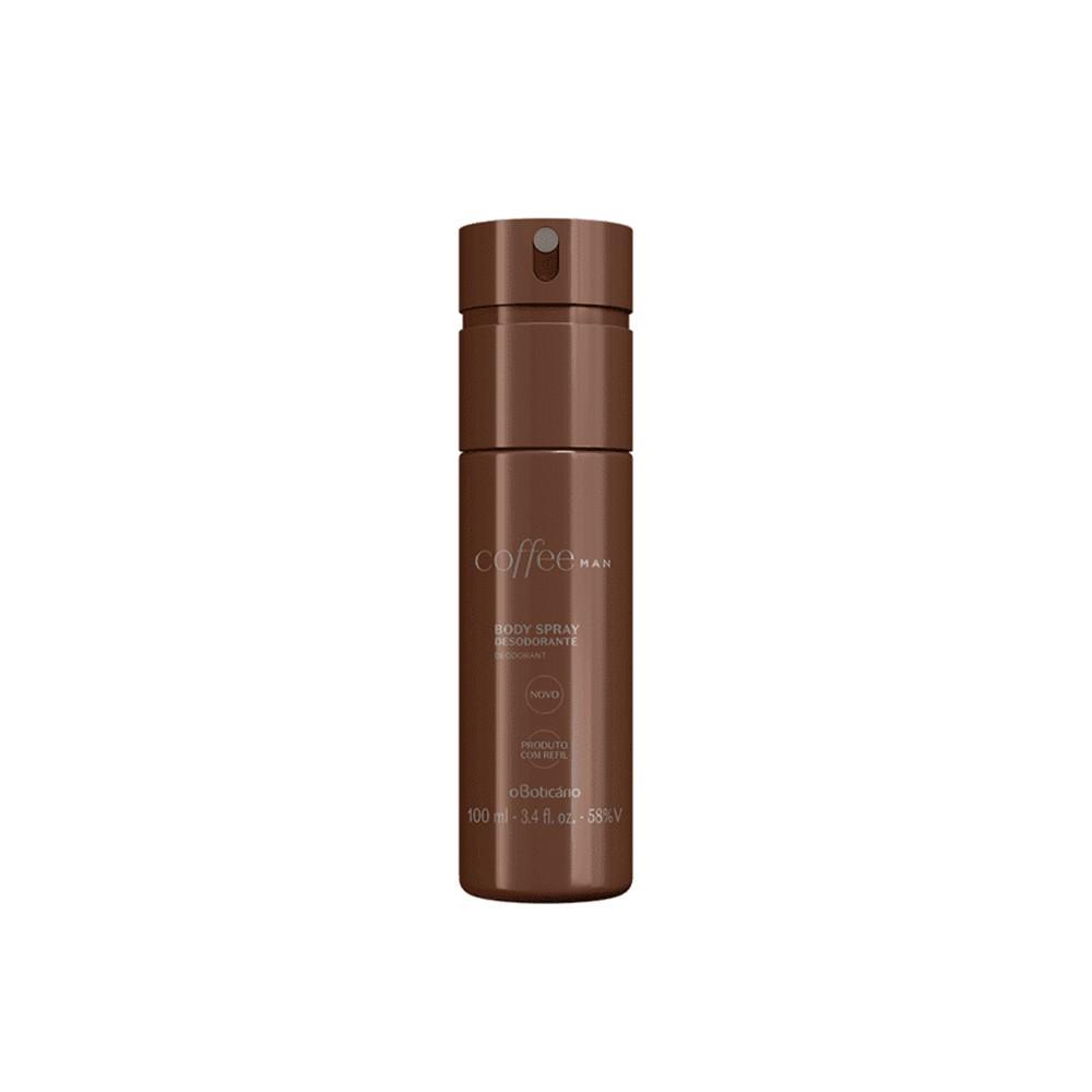 Desodorante Body Spray Coffee Man - 100 ml | O Boticário  - Flor de Alecrim - Cosméticos