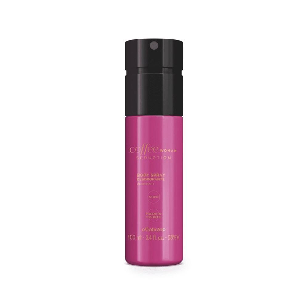 Desodorante Body Spray Coffee Woman Seduction - 100 ml | O Boticário  - Flor de Alecrim - Cosméticos