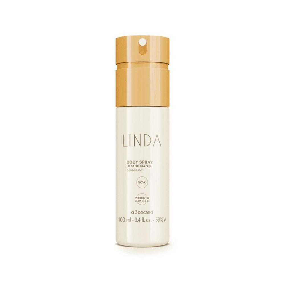 Desodorante Body Spray Linda - 100 ml | O Boticário  - Flor de Alecrim - Cosméticos