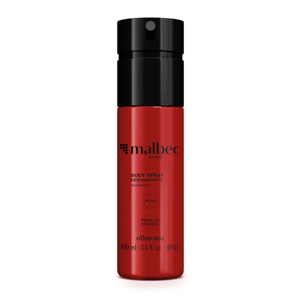 Desodorante Body Spray Malbec Sport 100 Ml  - Flor de Alecrim - Cosméticos