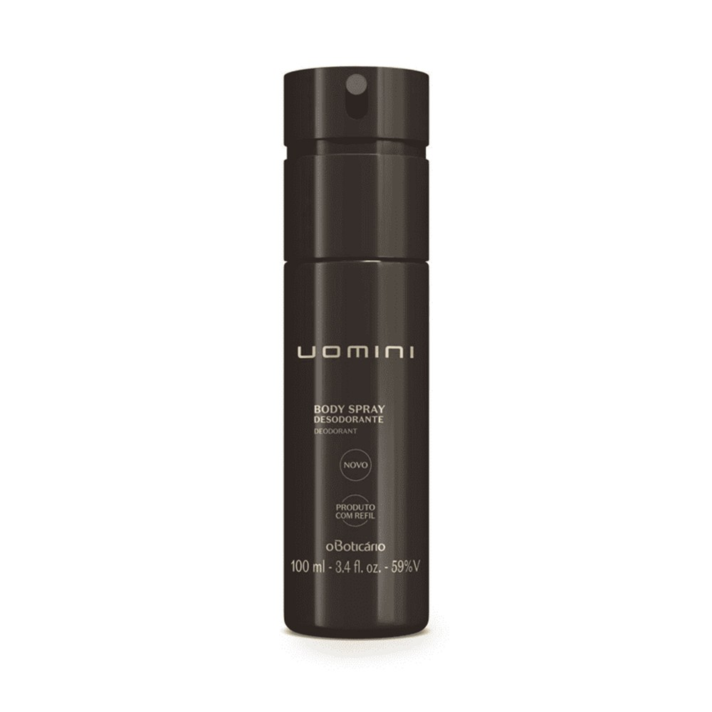 Desodorante Body Spray Uomini 100 Ml  - Flor de Alecrim - Cosméticos