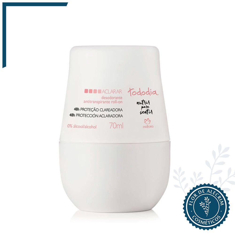 Desodorante Roll-On Aclarar TodoDia - 70 ml | Natura  - Flor de Alecrim - Cosméticos