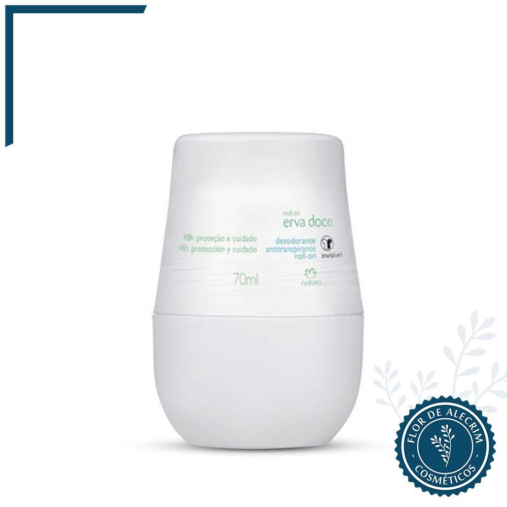 Desodorante Roll-On Erva Doce TodoDia - 70 ml   Natura  - Flor de Alecrim - Cosméticos