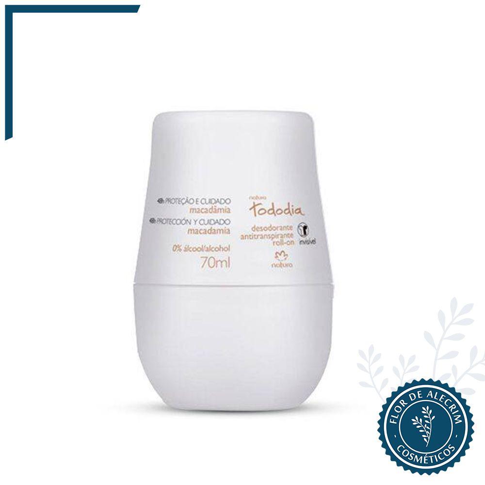 Desodorante Roll-On Macadâmia Tododia - 70 ml | Natura  - Flor de Alecrim - Cosméticos