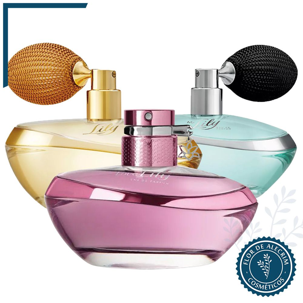 Eau de Parfum | Lily 75 ml  - Flor de Alecrim - Cosméticos