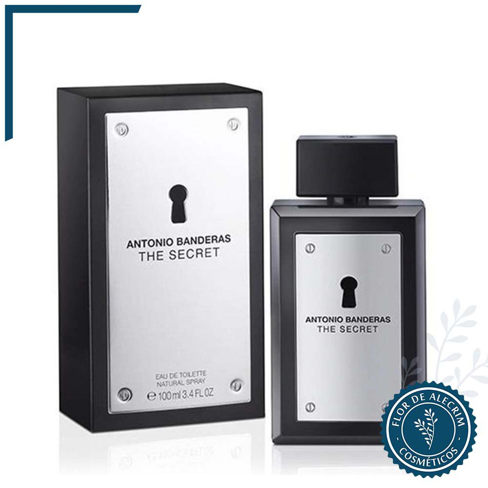 Eau de Toilette The Secret | Antonio Banderas  - Flor de Alecrim - Cosméticos