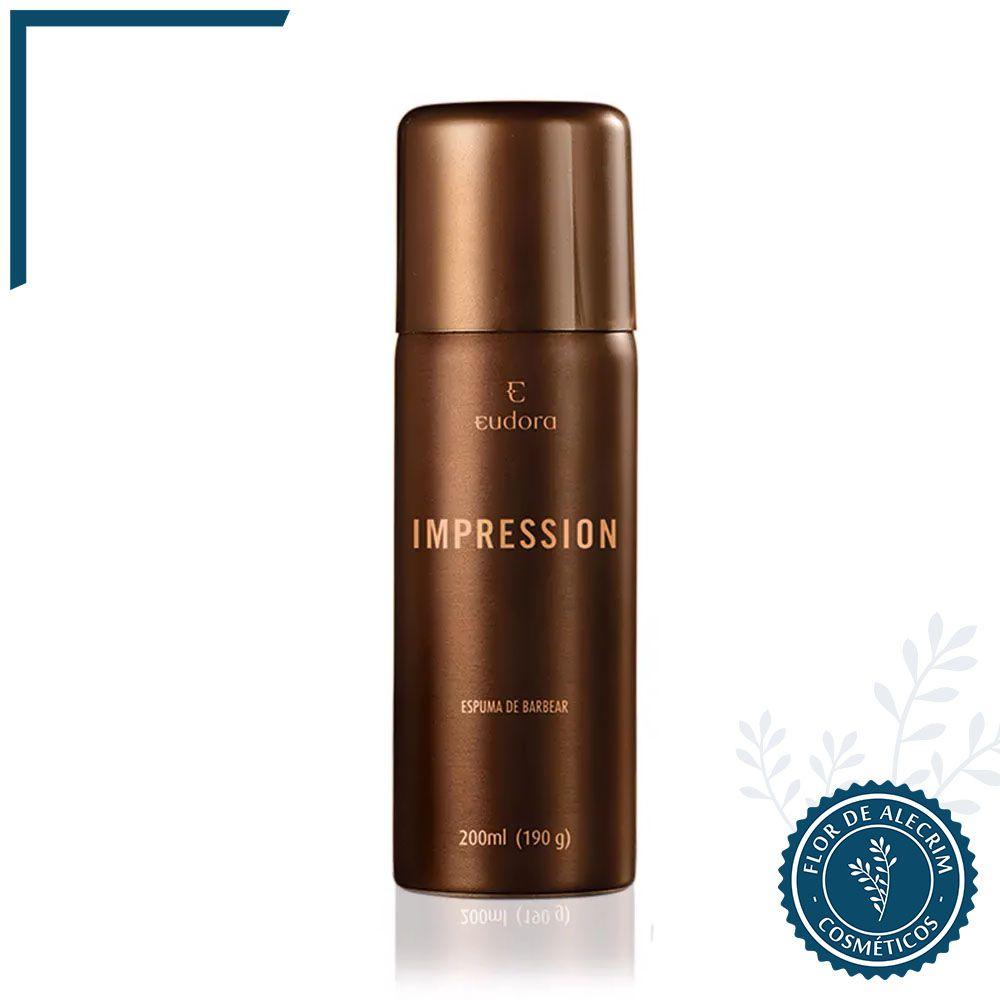 Espuma de Barbear Impression - 200 ml   Eudora  - Flor de Alecrim - Cosméticos