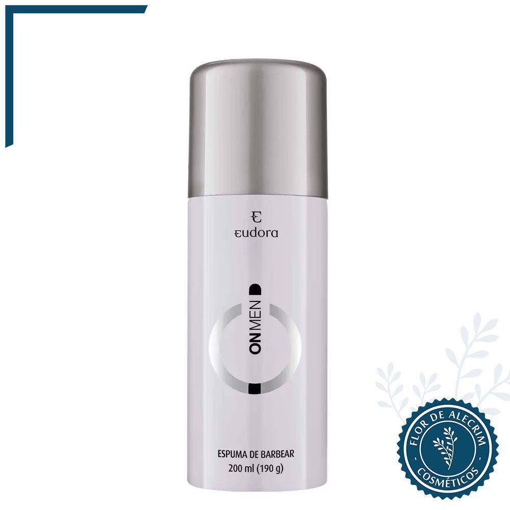 Espuma de Barbear On Men - 200 ml | Eudora  - Flor de Alecrim - Cosméticos