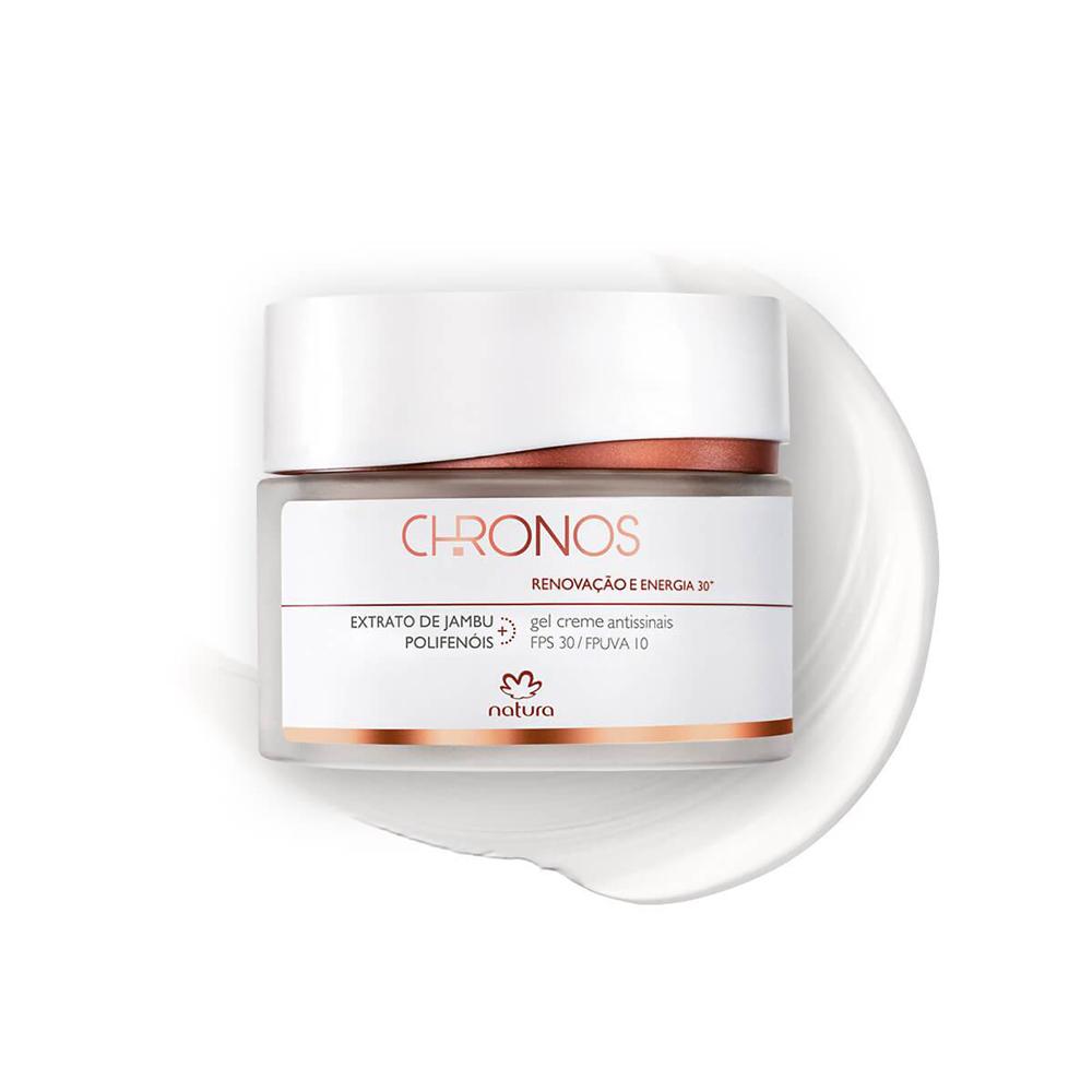 Gel Creme Antissinais + 30 Dia Natura Chronos 40 g  - Flor de Alecrim - Cosméticos