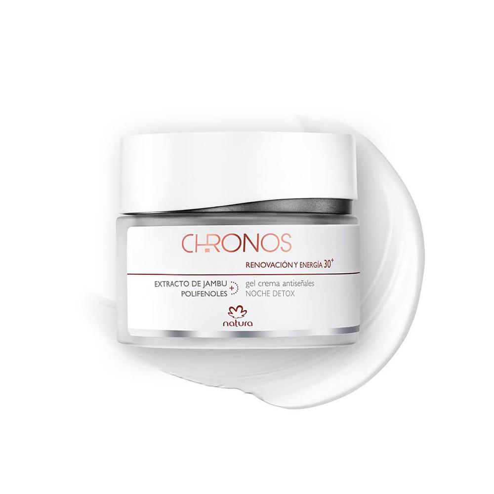Gel Creme Antissinais + 30 Noite Natura Chronos 40 g  - Flor de Alecrim - Cosméticos