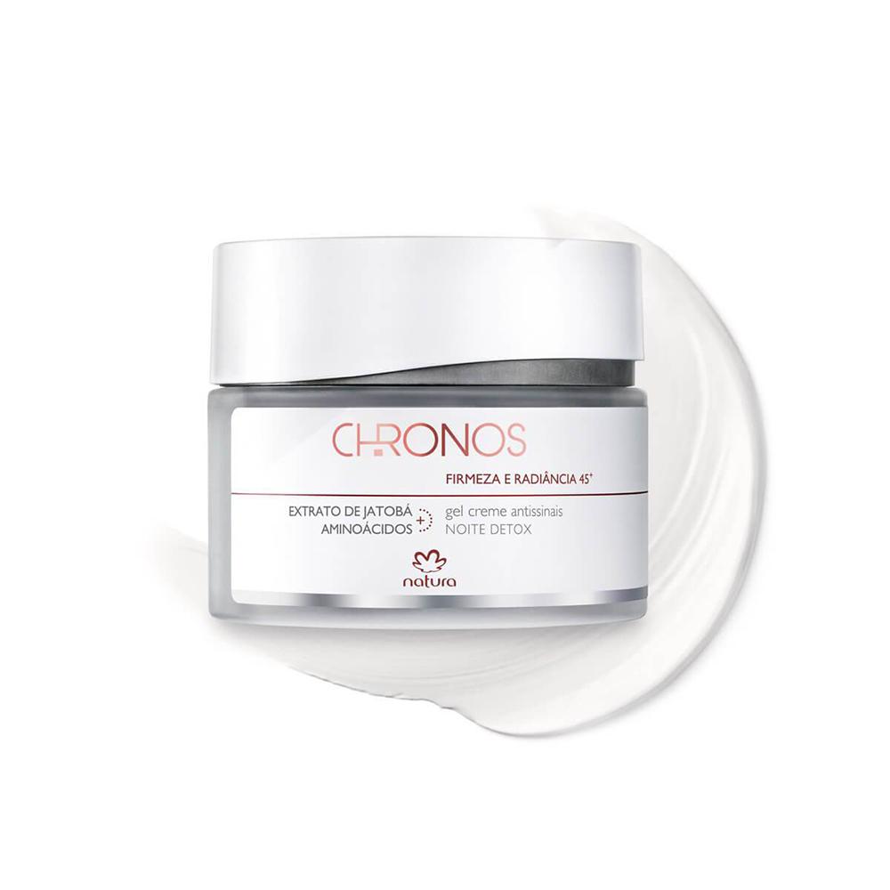 Gel Creme Antissinais + 45 Noite Natura Chronos 40 g  - Flor de Alecrim - Cosméticos
