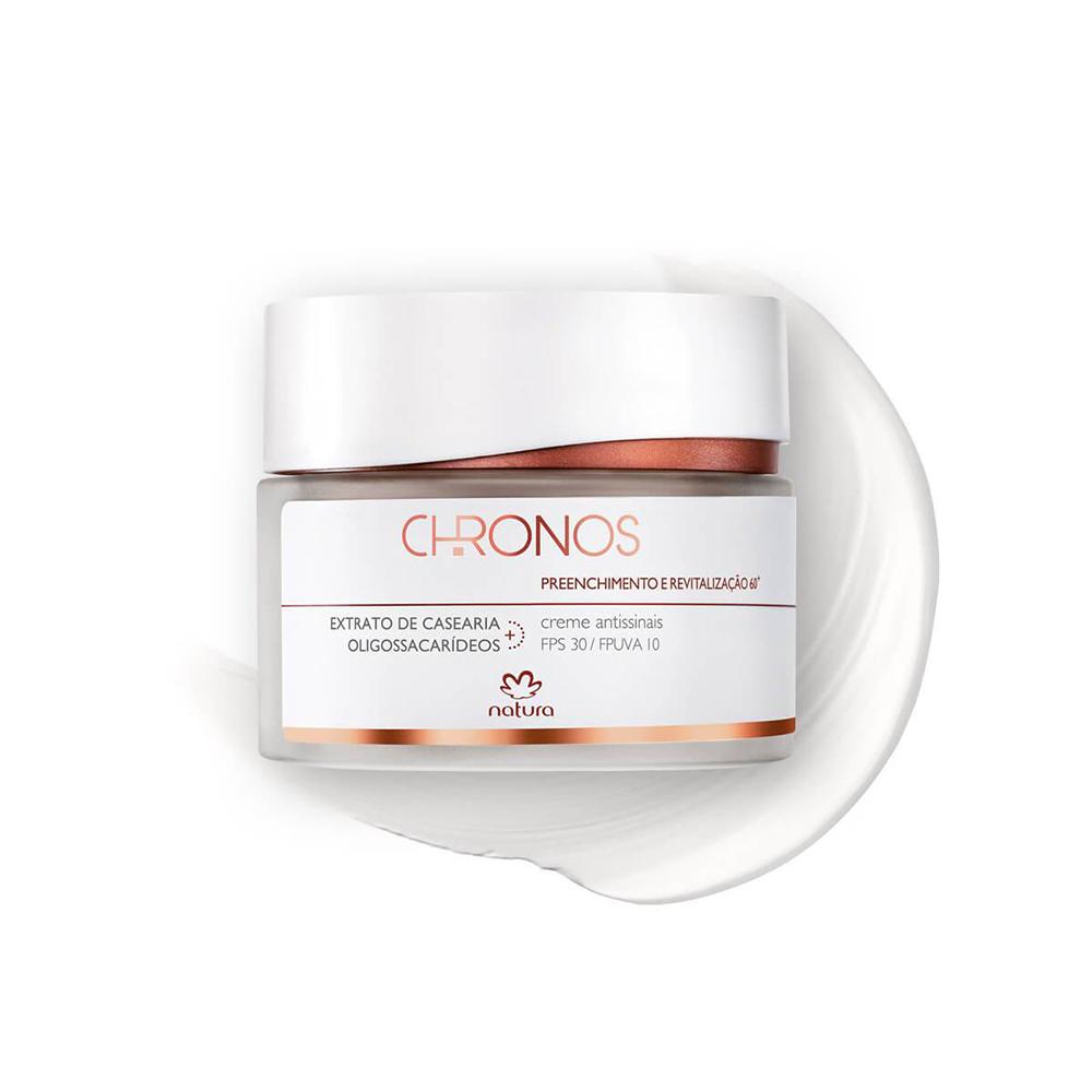 Gel Creme Antissinais + 60 Dia Natura Chronos 40 g  - Flor de Alecrim - Cosméticos
