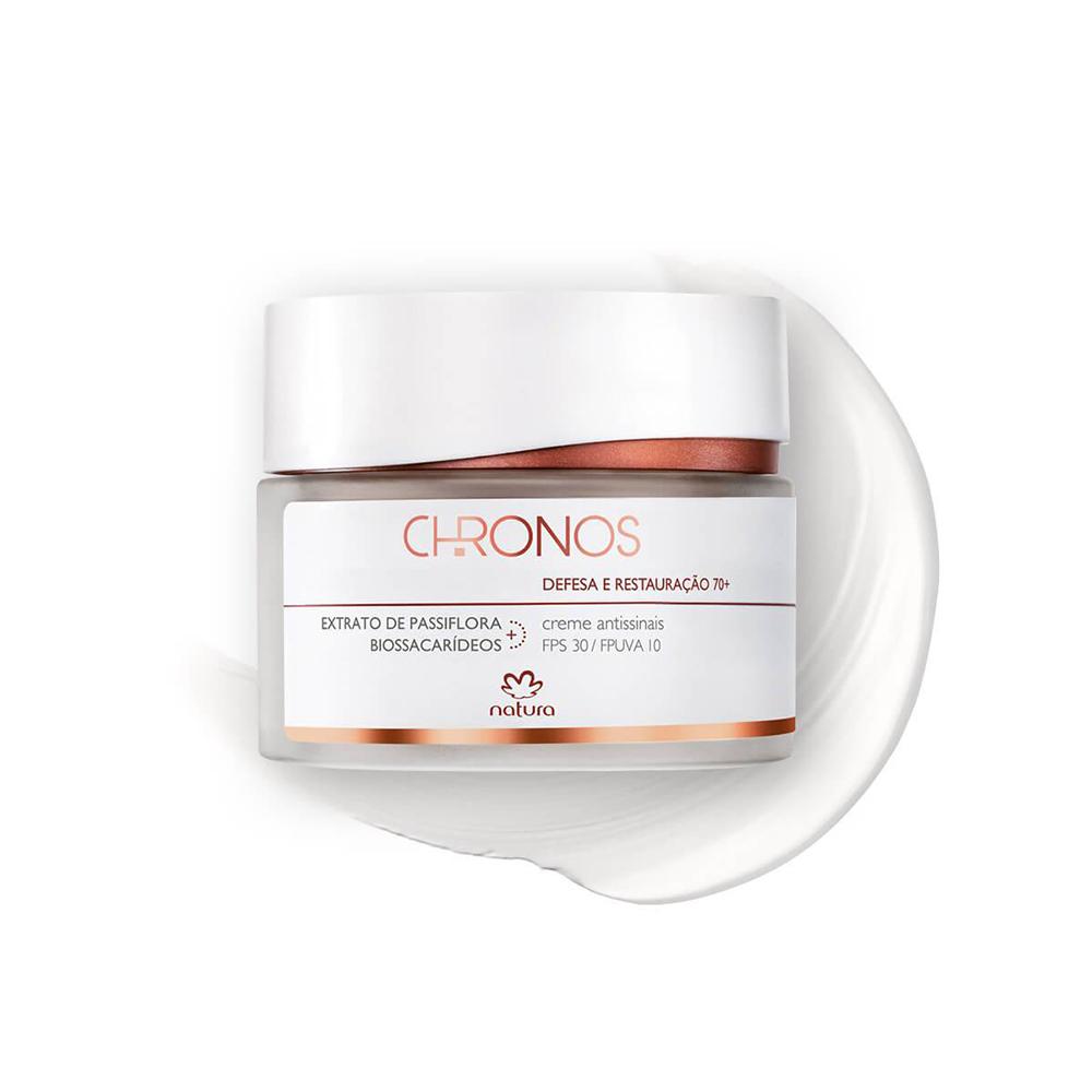 Gel Creme Antissinais + 70 Noite Natura Chronos 40 g  - Flor de Alecrim - Cosméticos