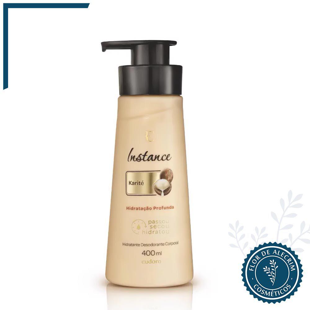 Hidratante Desodorante Corporal Karité Instance - 400 ml  | Eudora  - Flor de Alecrim - Cosméticos