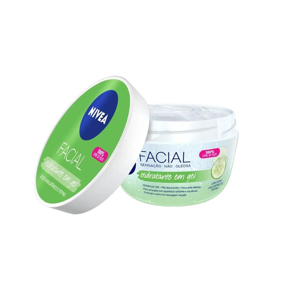 Hidratante Facial em Gel com Ácido Hialurônico e Pepino 100 g  - Flor de Alecrim - Cosméticos