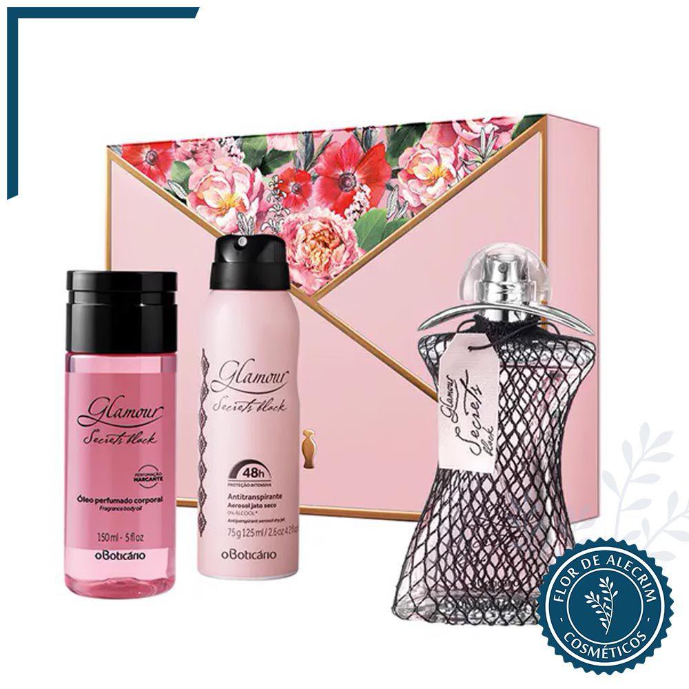 Kit Glamour Secrets Black | O Boticário  - Flor de Alecrim - Cosméticos