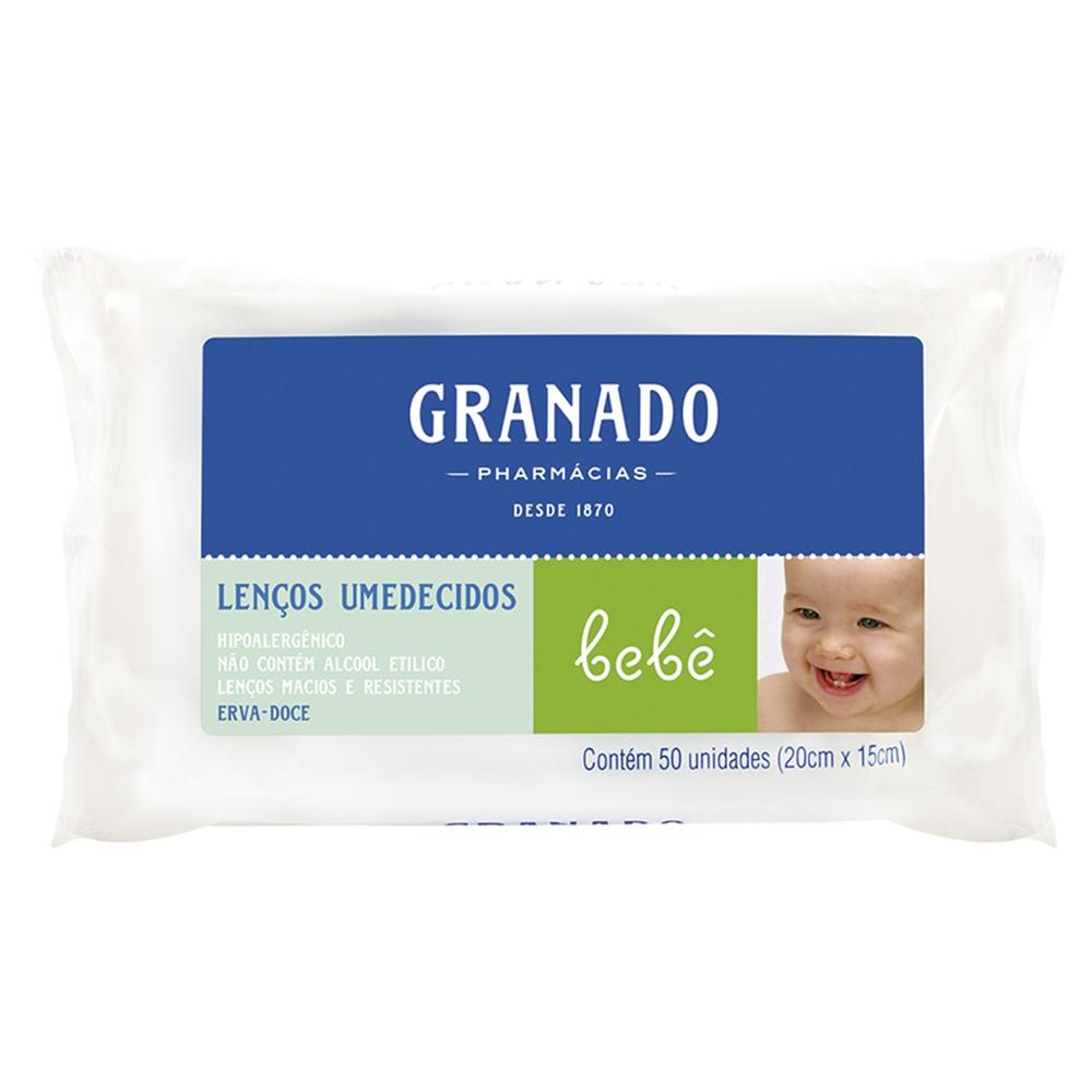 Lenços Umedecidos Bebê Erva Doce - 50 Unid. | Granado  - Flor de Alecrim - Cosméticos