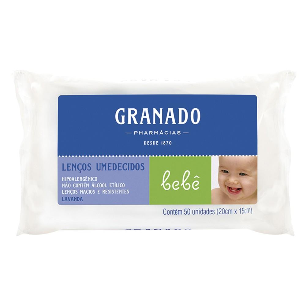 Lenços Umedecidos Bebê Lavanda - 50 Unid. | Granado  - Flor de Alecrim - Cosméticos