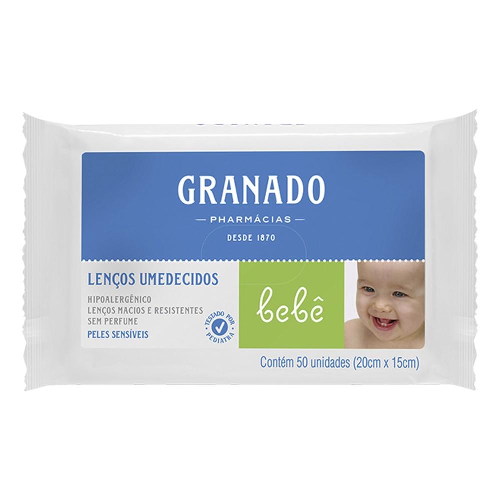 Lenços Umedecidos Bebê Peles Sensíveis - 50 Unid. | Granado  - Flor de Alecrim - Cosméticos