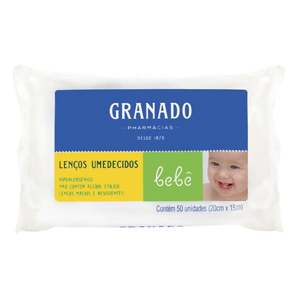 Lenços Umedecidos Bebê Tradicional - 50 Unid. | Granado  - Flor de Alecrim - Cosméticos