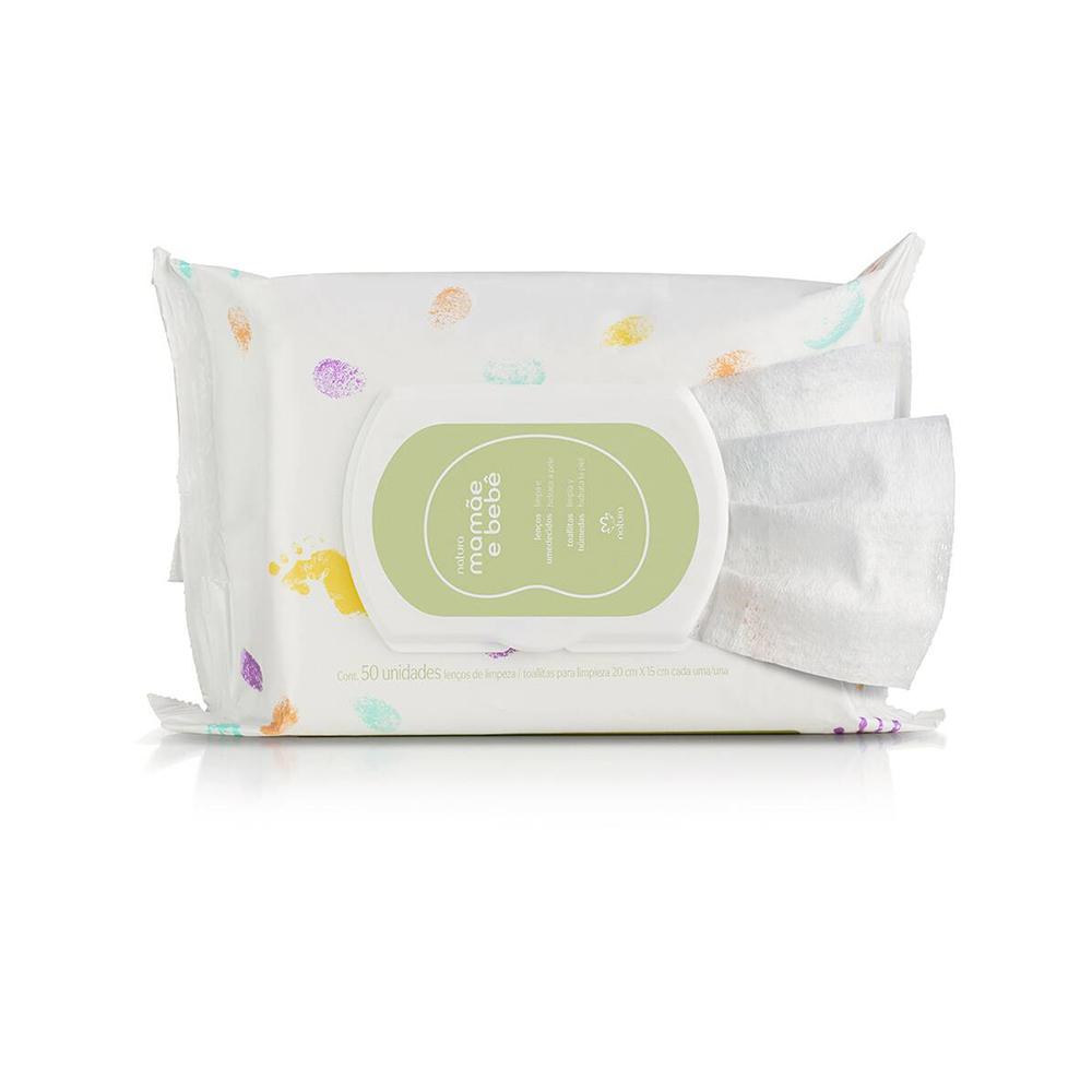 Lenços Umedecidos Com Fragrância Mamãe e Bebê 50 unidades  - Flor de Alecrim - Cosméticos