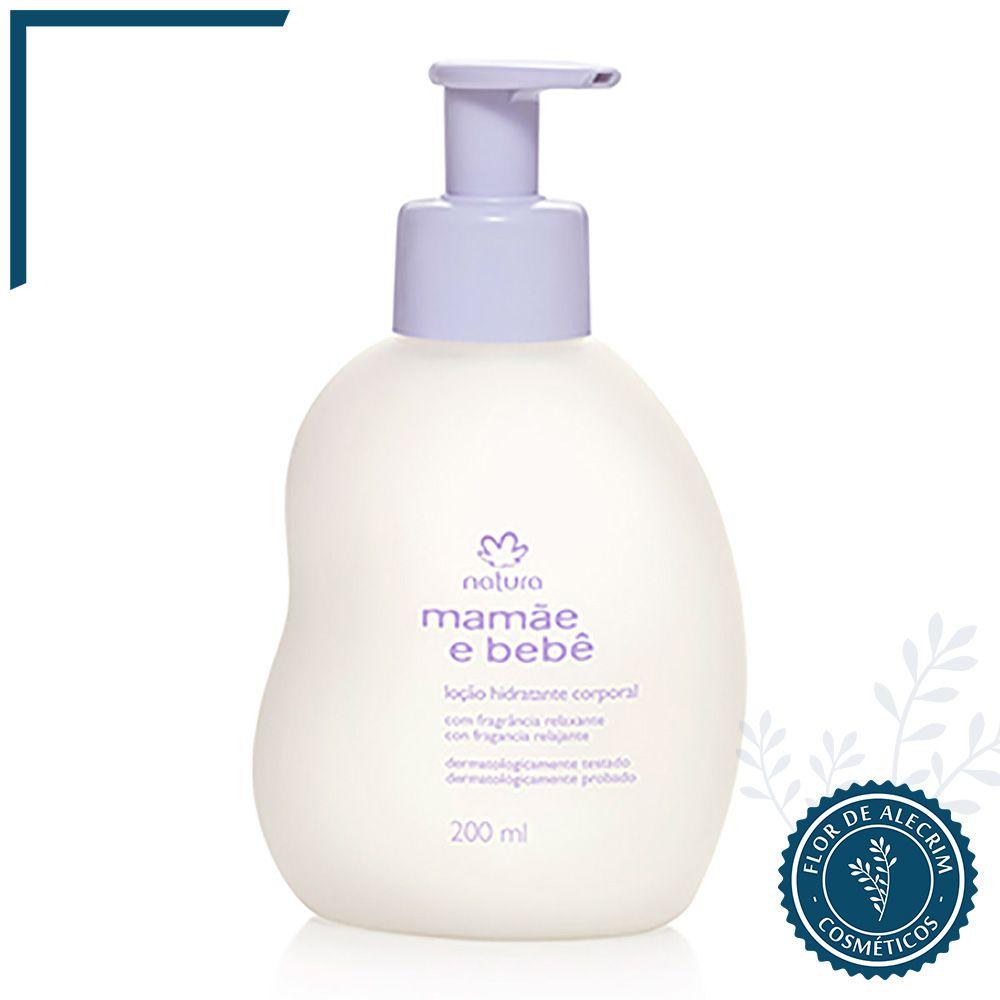 Loção Hidratante Corporal com Fragrância Relaxante Mamãe e Bebê - 200 ml | Natura  - Flor de Alecrim - Cosméticos