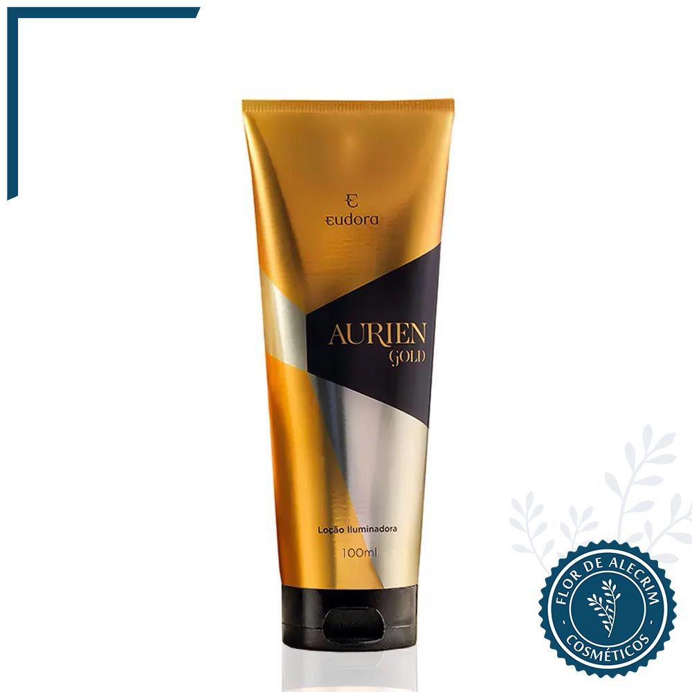 Loção Hidratante Corporal Iluminada Aurien Gold - 200 ml | Eudora  - Flor de Alecrim - Cosméticos