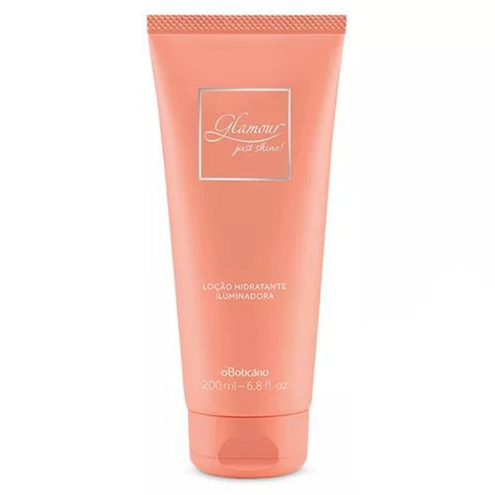 Loção Hidratante Iluminadora Glamour Just Shine 200 Ml  - Flor de Alecrim - Cosméticos