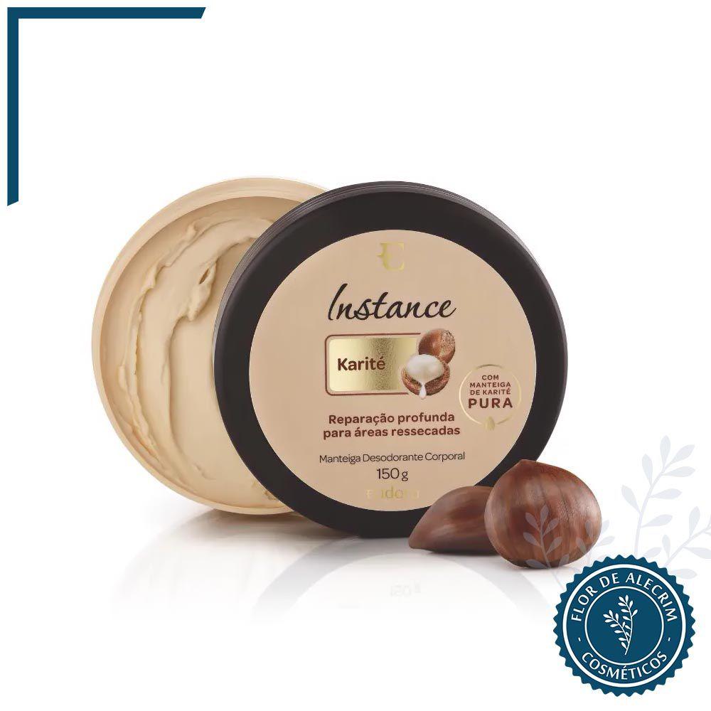 Manteiga Desodorante Corporal Karité Instance - 150 g | Eudora  - Flor de Alecrim - Cosméticos
