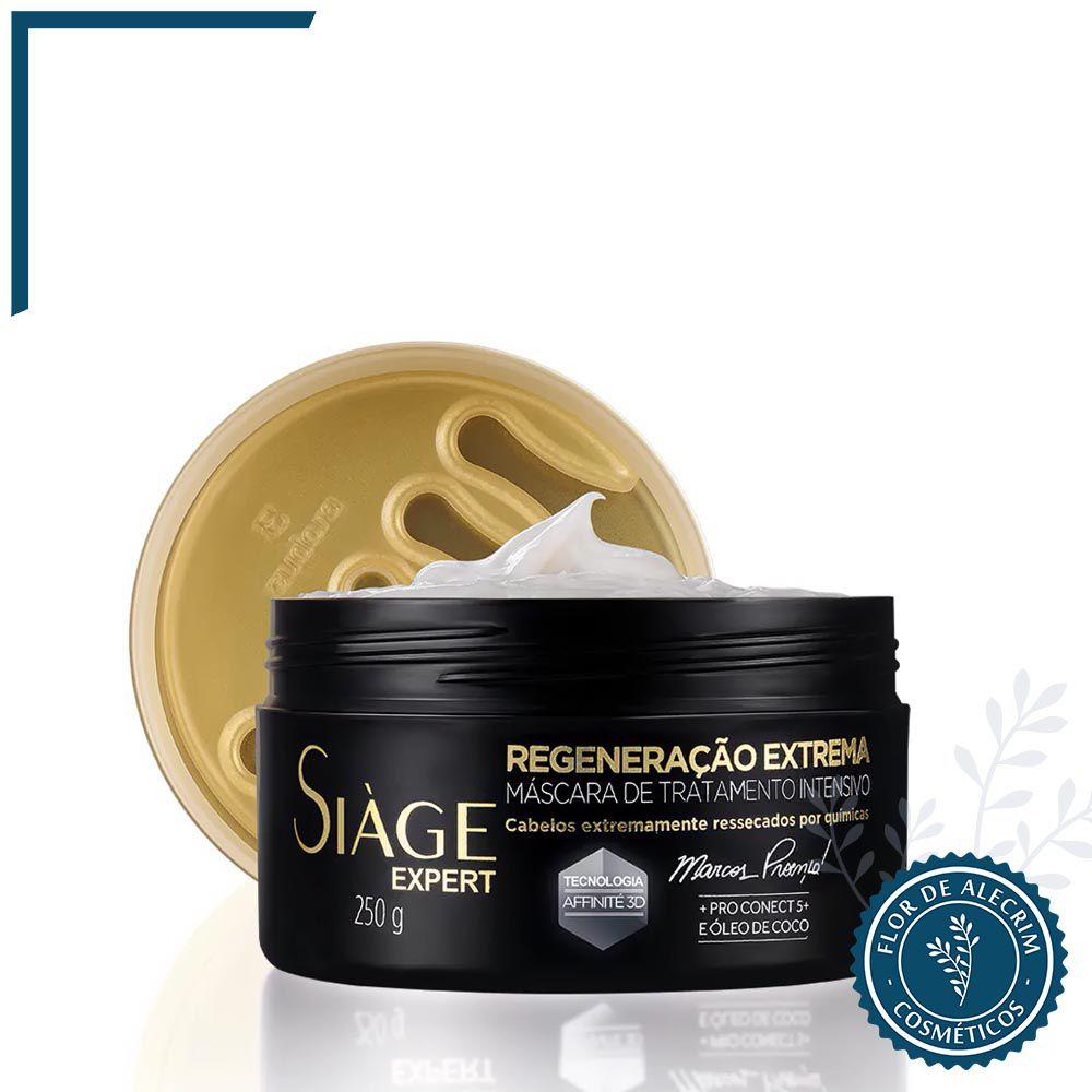 Máscara de Tratamento Regeneração Extrema Siàge - 250 g   Eudora  - Flor de Alecrim - Cosméticos