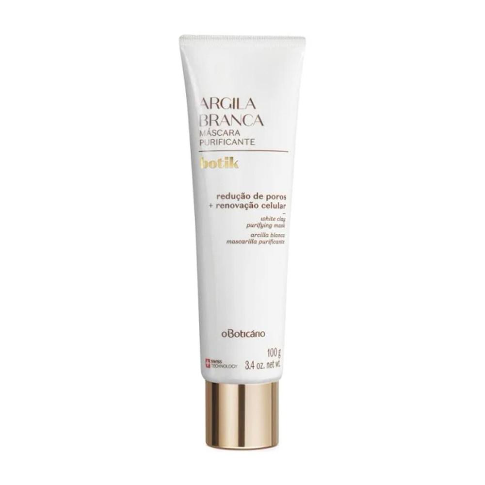 Máscara Facial Purificante Argila Branca 100 g  - Flor de Alecrim - Cosméticos