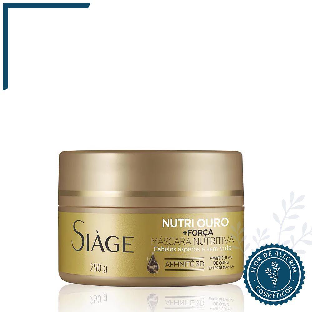 Máscara Nutritiva Nutri Ouro Siàge - 250 g | Eudora  - Flor de Alecrim - Cosméticos