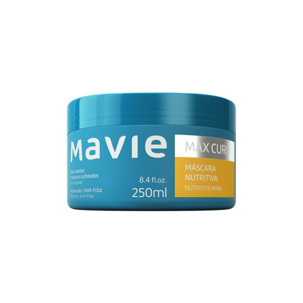 Máscara Vegano Nutritiva Max Curl - 250 Ml | Mavie  - Flor de Alecrim - Cosméticos