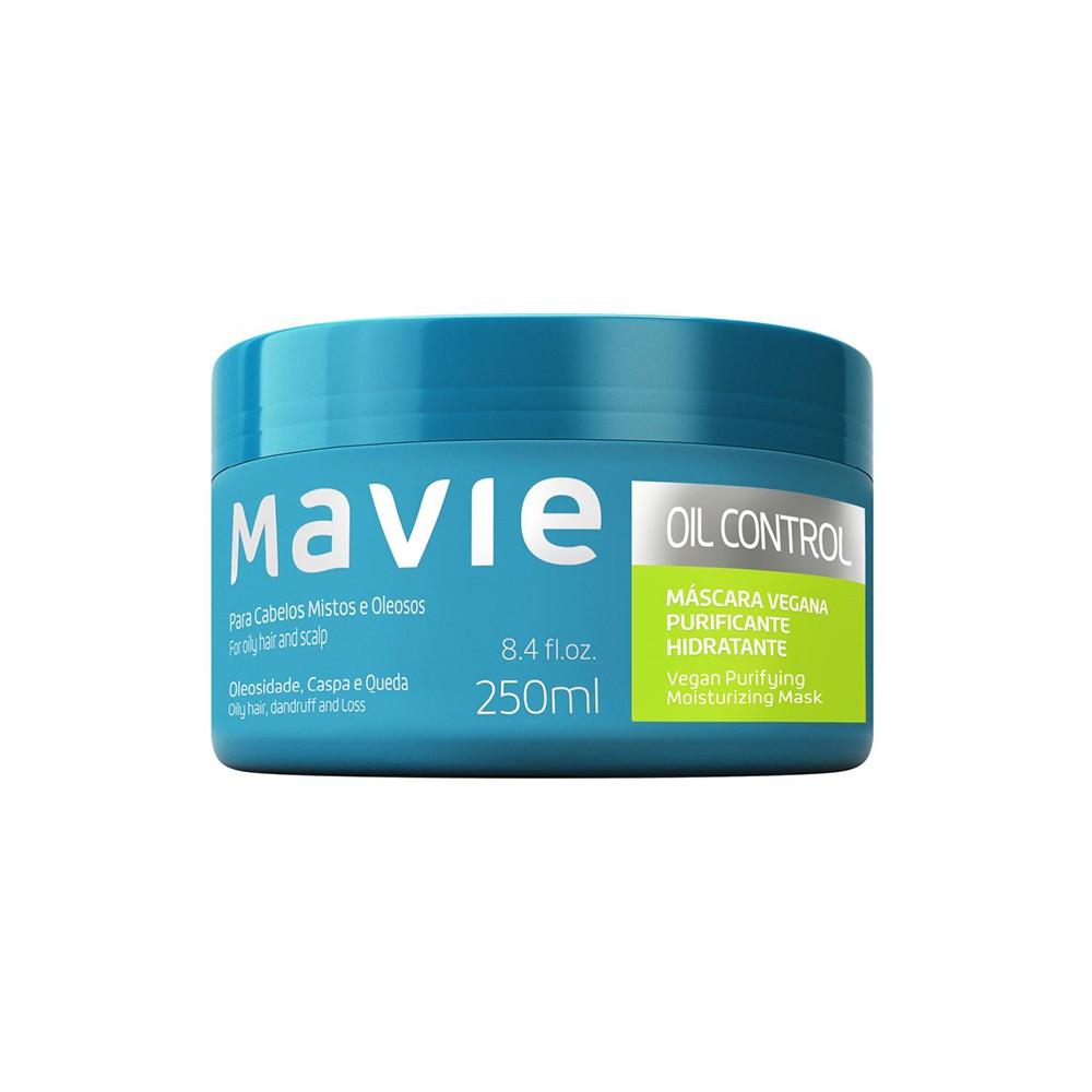 Máscara Vegano Oil Control - 250 Ml | Mavie  - Flor de Alecrim - Cosméticos