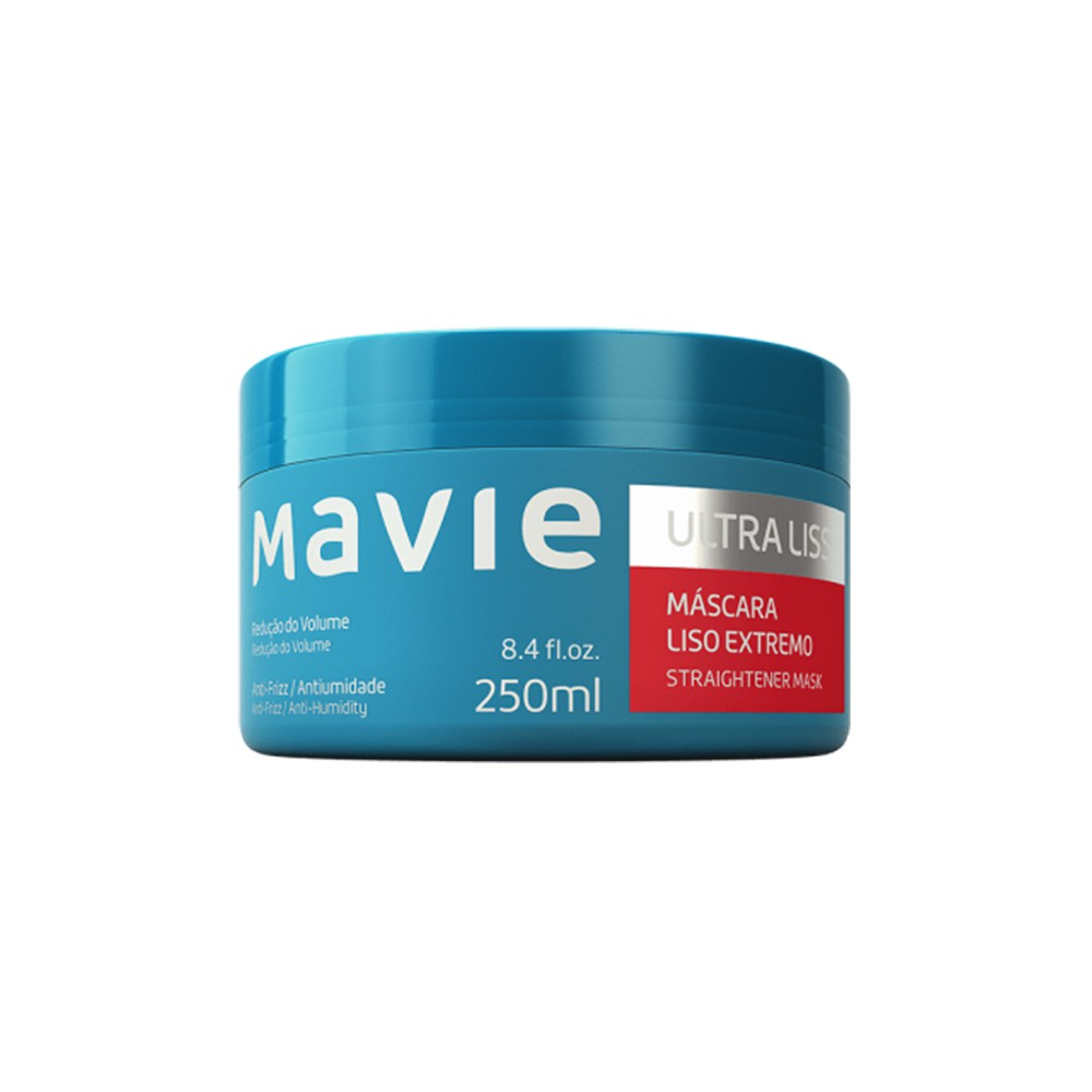 Máscara Vegano Ultra Liss - 250 Ml   Mavie  - Flor de Alecrim - Cosméticos